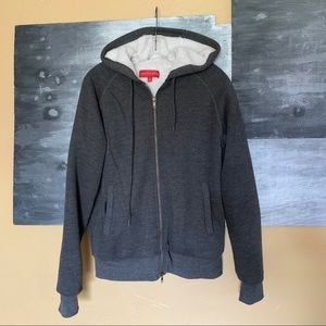 Sals Fifth Avenue Gray Sherpa Lined Hoodie